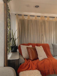 Close Up View of DIY Curtain Rods and Window Treatments