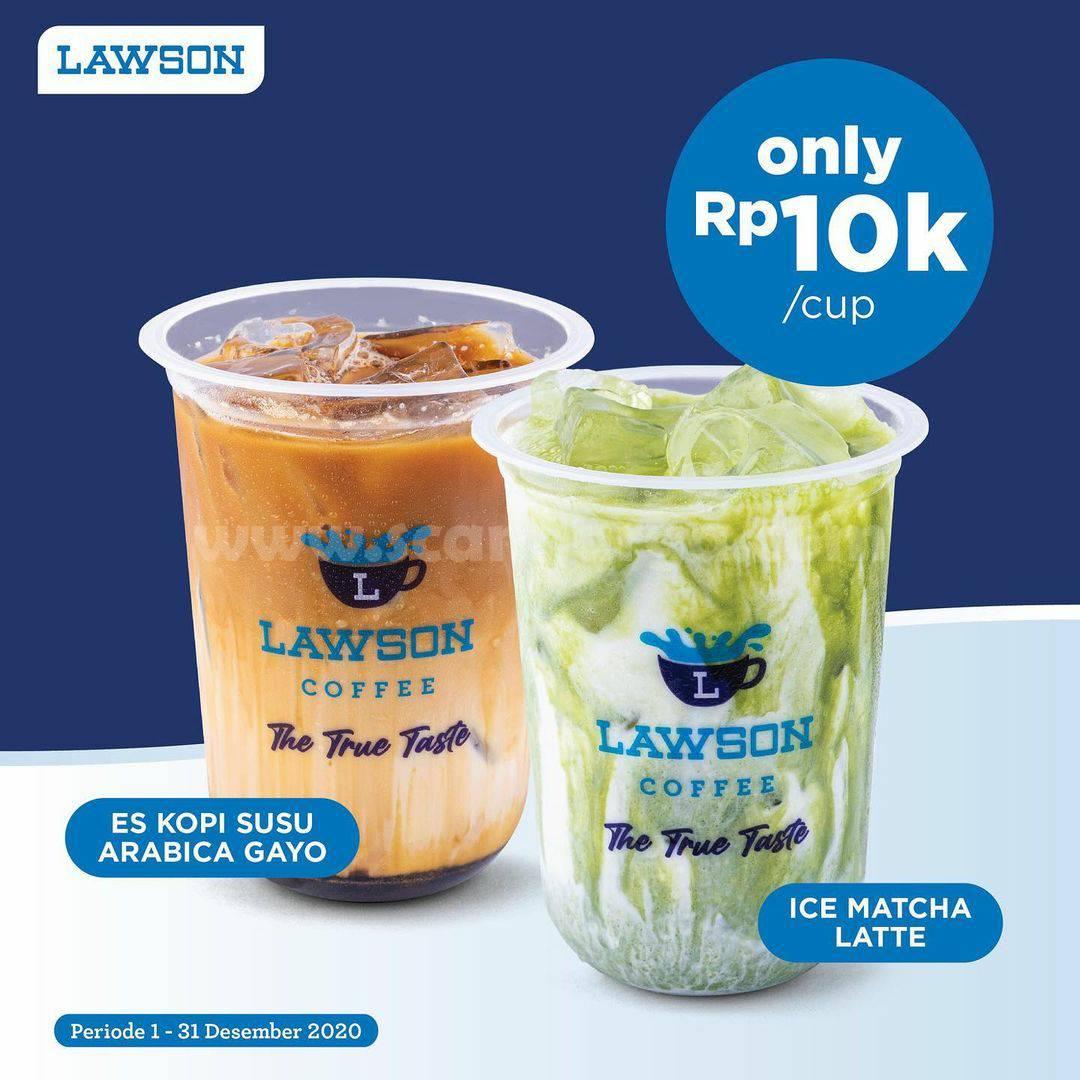 LAWSON Promo Harga Spesial Ice Matcha Latte Es Kopi Susu Arabica Gayo hanya Rp 10.000
