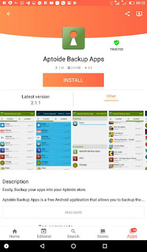 Aptoide Backup Apps