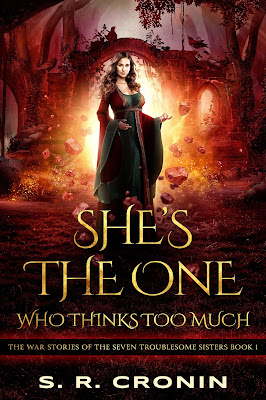book cover of She's the One Who Thinks Too Much by S.R. Cronin
