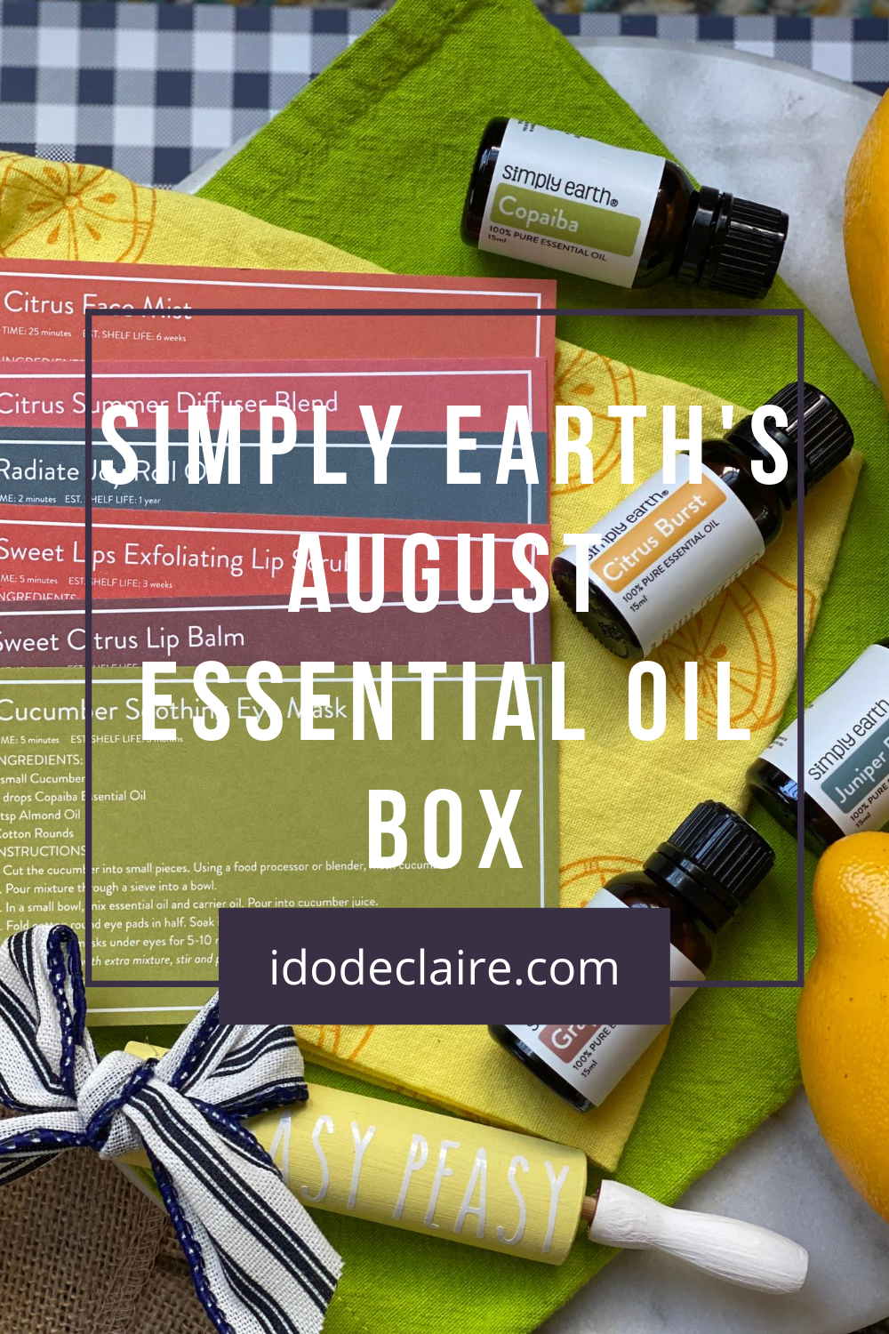 Simply Earth's August Essential Oil Box