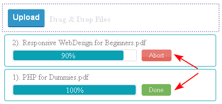 ajax jquery multiple file upload progress bar