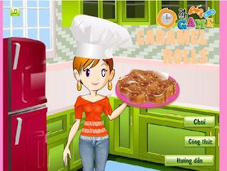 game làm bánh caramen ngon