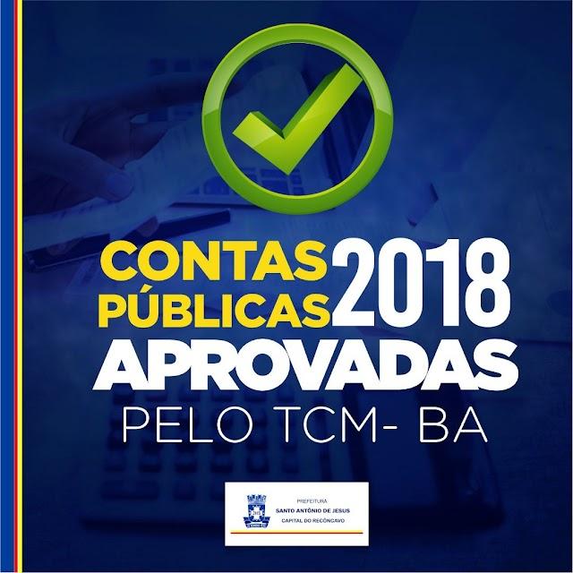Prefeitura de Santo Antônio de Jesus tem contas 2018 aprovadas pelo TCM