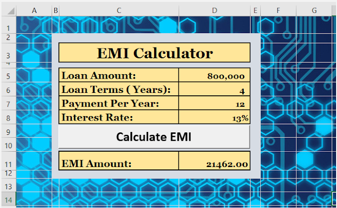 How to Create Equated Monthly Installment (EMI) Calculator Using VBA in Excel