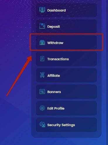 Вывод средств в Bitneo