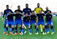 Selección de ARGENTINA - Temporada 2013-14 - Marcos Rojo, Demichelis, Garay, Romero y Mascherano; Higuaín, Enzo Pérez, Leo Messi, Lucas Biglia, Zabaleta y Lavezzi - ALEMANIA 1 (Götze), ARGENTINA 0 - 13/07/2014 - Campeonato Mundial de Brasil 2014, Final - Río de Janeiro, Brasil, estadio de Maracaná -  ALEMANIA vence a Argentina en la prórroga y gana su 4º título mundial