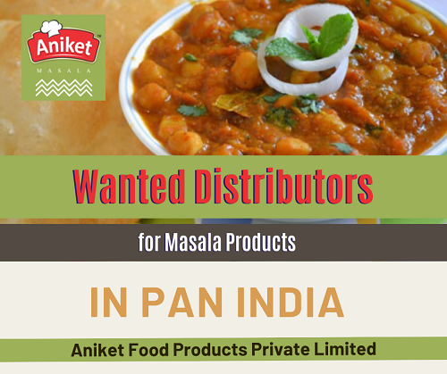 Wanted Distributors, Super Stockist for Masala Products in Pan India