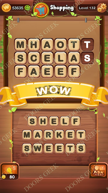 Word Bright Level 132 Answers, Cheats, Solutions, Walkthrough for android, iphone, ipad and ipod