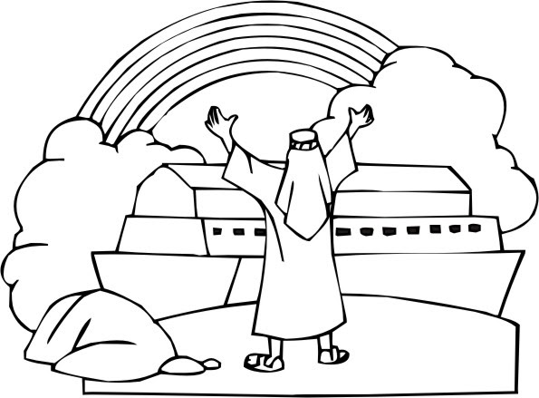 coloring pages noah and the rainbow