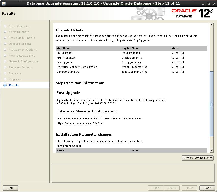 Upgrading Oracle 11g Database to 12c using DBUA | OracleNext