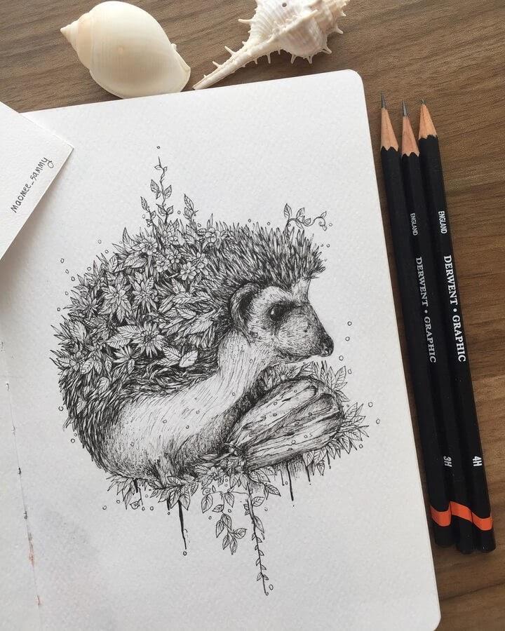 08-A-spring-hedgehog-Pavena-www-designstack-co