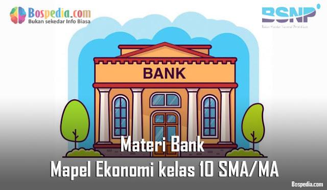 Soal Lembaga Jasa Keuangan Dalam Perekonomian Mapel Ekonomi Kelas 10 SMA/MA
