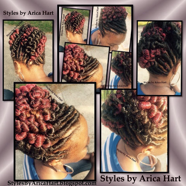 updo stuffed twist hair styles