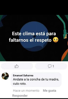 FALTA DE RESPETO Y CLIMA HUMOR DE FACEBOOK