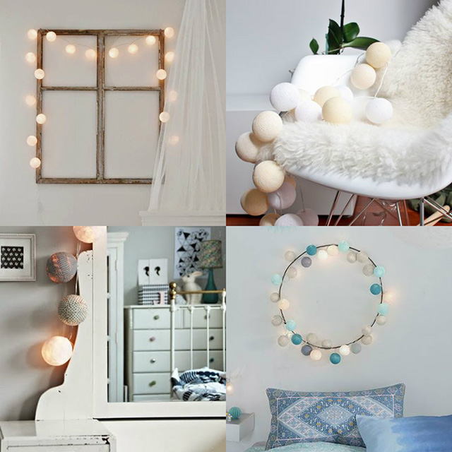 Ideas para decorar con guirnaldas de luz