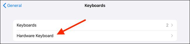اضغط على لوحة مفاتيح الأجهزة