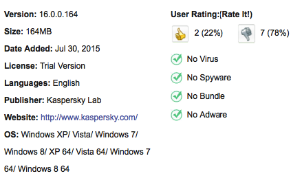 Kaspersky Anti-Virus Free Download For Windows