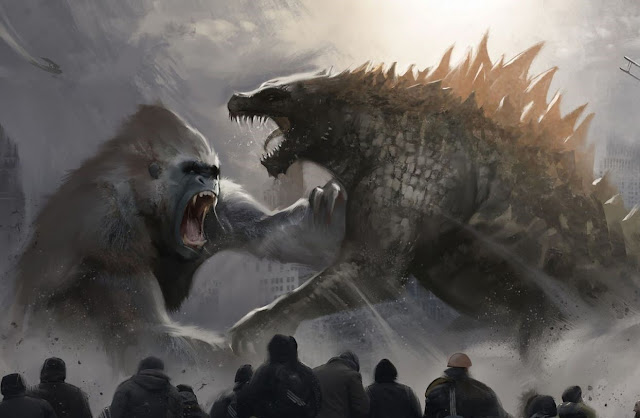 """Pôster de """"Godzilla vs Kong"""" sugere uma épica briga de monstros"""