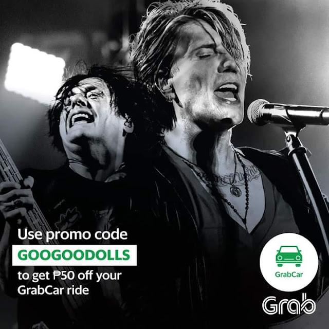 "February GrabCar PromoCode ""GooGooDolls"""