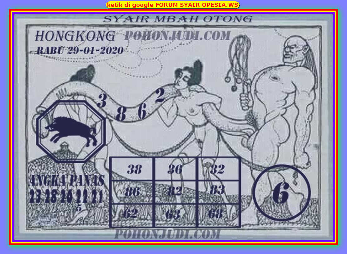 Kode syair Hongkong Rabu 29 Januari 2020 140