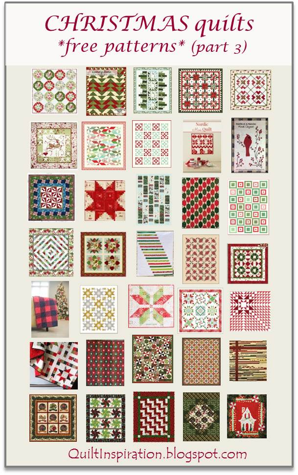 Free Quilt Christmas Patterns To Download : Quilt Inspiration: Free pattern day: Christmas quilts ! (part 3)