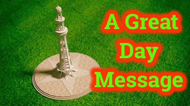 Pakistan Day Message