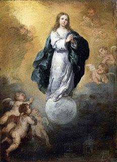 Inmaculada Concepción - Murillo - Óleo sobre lienzo 1650-55 37x26 cm Museo del Louvre