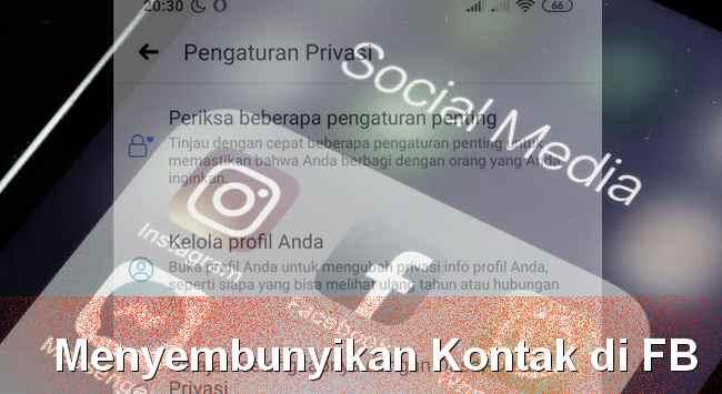 Setting info kontak di profil facebook