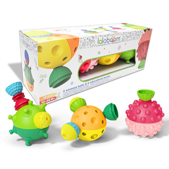 Lalaboom sensory balls and fine motor beads