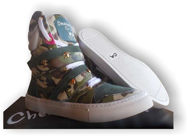 tenis botinha bota Sneaker Cheia de marra camuflado