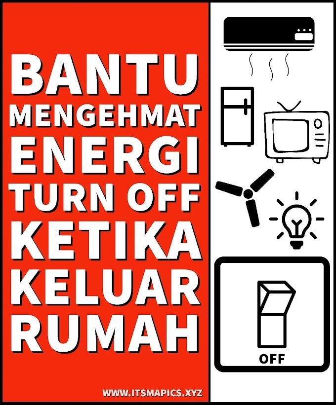 GRATIS Contoh Gambar Poster Hemat Energi