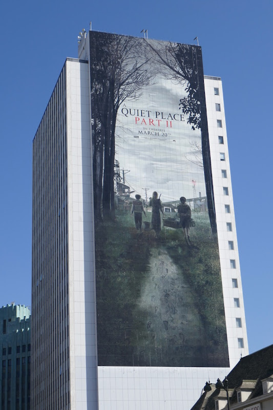 Giant A Quiet Place Part II movie billboard