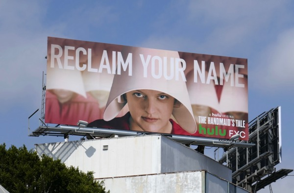 Handmaids Tale s2 Reclaim your name Emmy FYC billboard