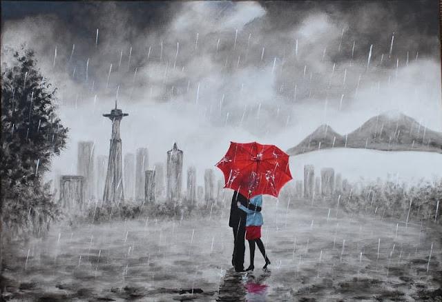 صور حب تحت المطر