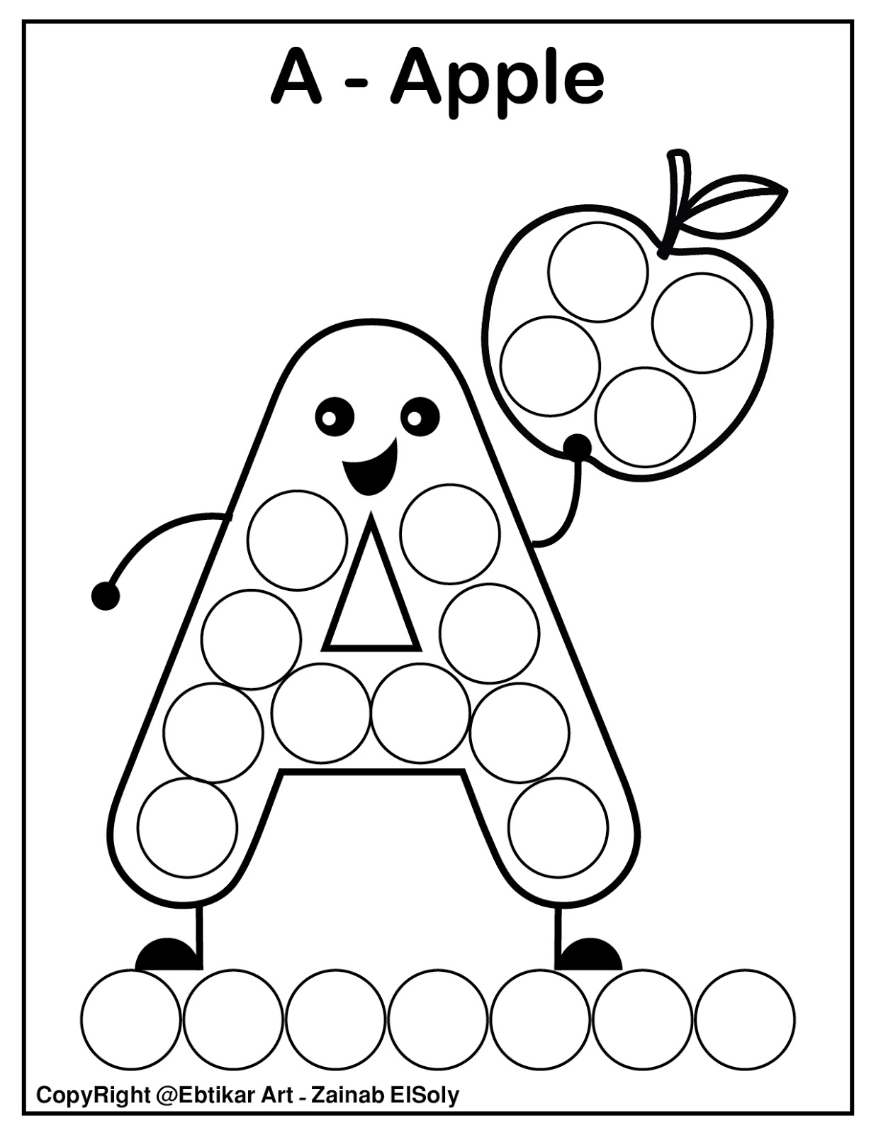 set of abc dot marker coloring pages set of abc dot marker coloring pages