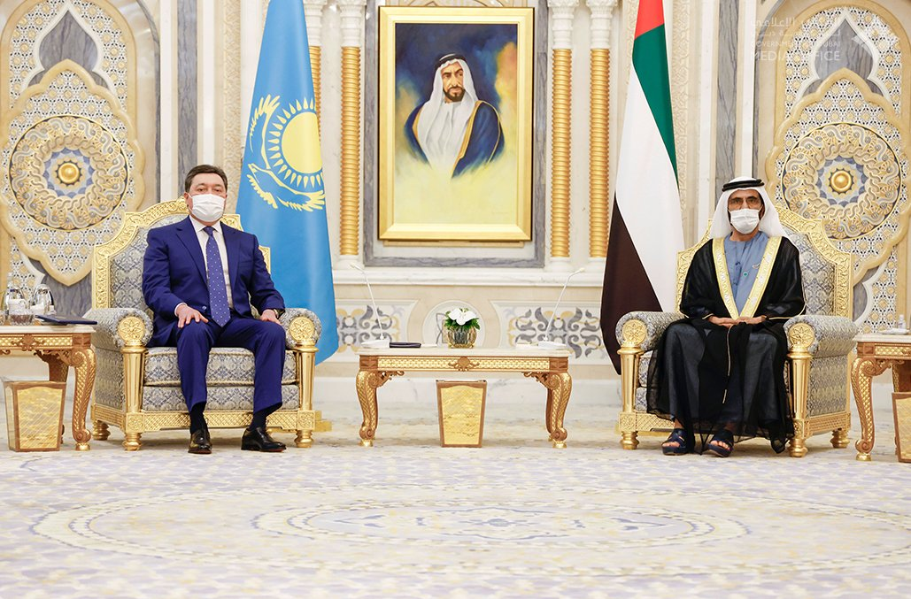 Mohamed bin Rashid receives Prime Minister of Kazakhstan