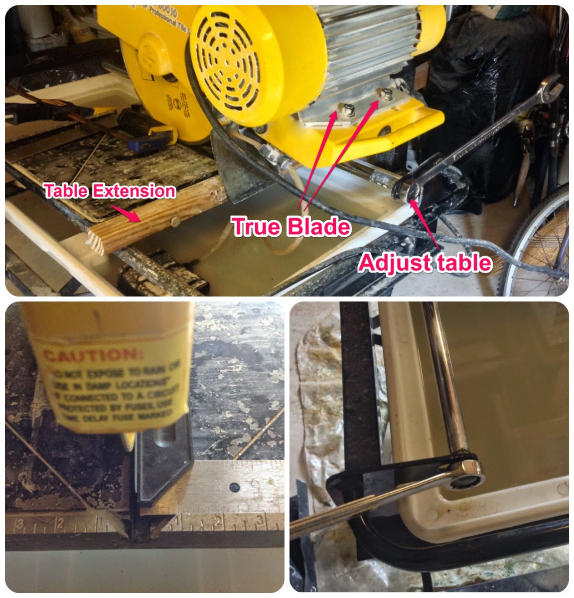 Truing A Tile Saw Motor Nuts And Rail