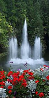 Contoh Gambar Wallpaper Pemandangan Air Terjun