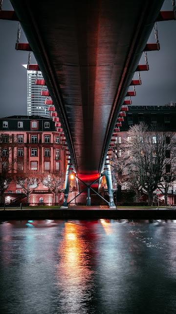 Bridge, Architecture, Buildings, Lighting, Night