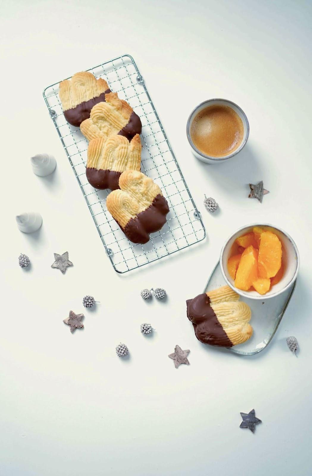 spritz , chocolat , sablés , recette classique
