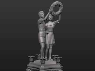 Sculptural composition of the upper pair - Boy and Girl - 3