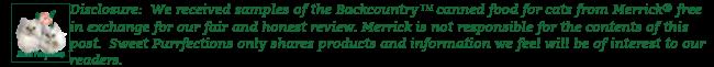 Disclosure statement about Merrick Cat Food