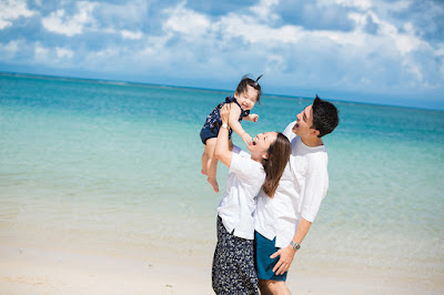 沖縄 北谷 アラハビーチ ロケーションフォト 家族