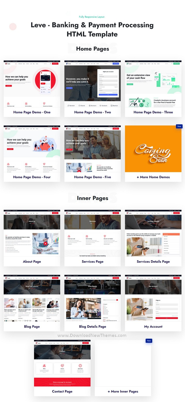 Banking & Payment Processing Responsive Template