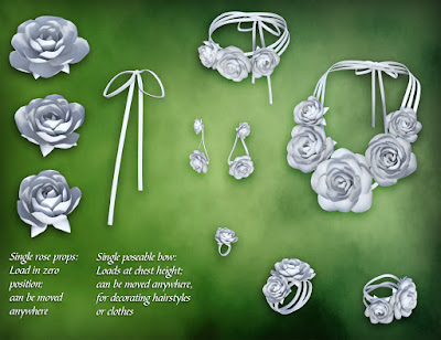 Rose Jewelry for Genesis 3 Female