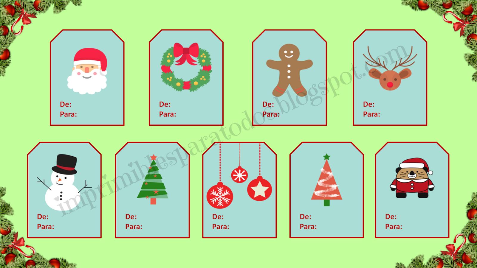 Tarjetas para regalos de navidad - Cosas para regalar en navidad ...