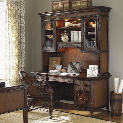 Isle of Palms wood credenza and desk
