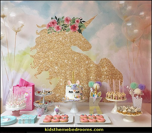 unicorn party backdrop decorating  unicorn party supplies - rainbow unicorn party decorations - unicorn birthday party - Unicorn Themed Party -  Unicorn Balloons  -  unicorrn cupcakes - rainbow decorations - Unicorn  Garlands - sequin tablecloth - tutu table skirt -