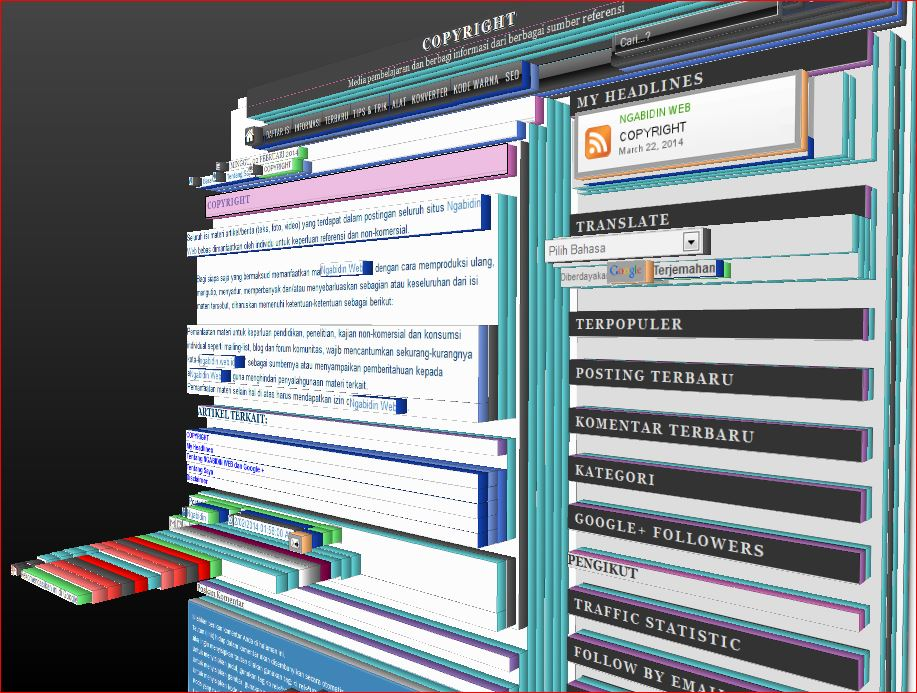Seluruh isi materi artikel/berita (teks, foto, video) yang terdapat dalam postingan blog Ngabidin Web bebas dimanfaatkan oleh individu untuk keperluan referensi dan non-komersial.